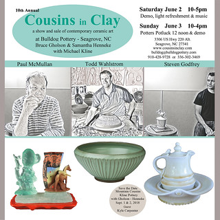 Cousins in Clay 2018 Seagrove NC | by Bulldog Pottery - Bruce Gholson and Samantha Henne