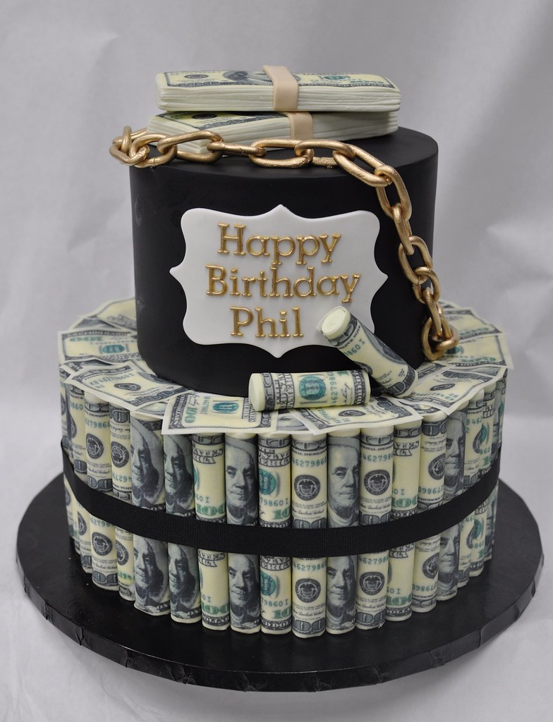 Happy Birthday Money Cake