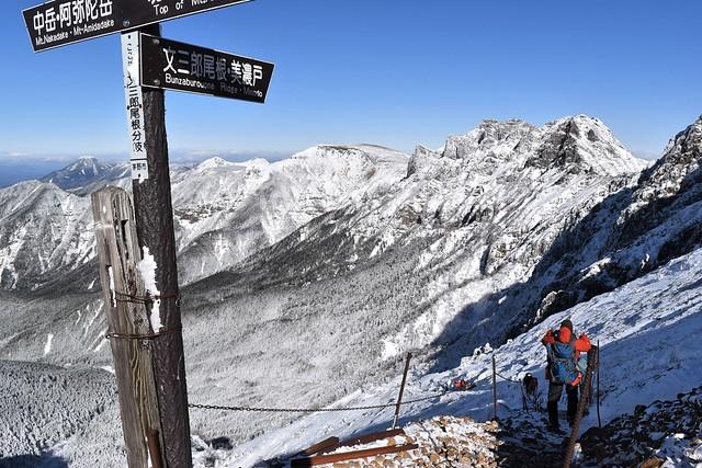 冬の八ヶ岳登山 文三郎尾根で下山