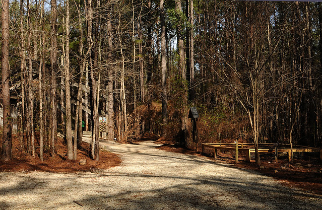 Entrance to the Auburn University's Louise Kreher Forest Ecology Preserve
