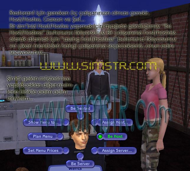 The Sims 2 Open For Business Run a Restaurant Restoran Lokanta İşletmek