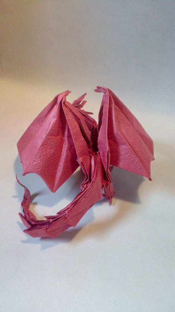 Origami Ancient Dragon Ancient Dragon Designed By Satoshi Flickr