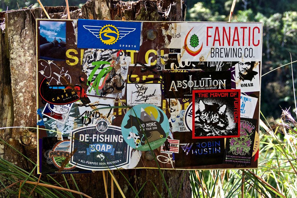 de fish the fanatic sticker tagging alan grinberg flickr