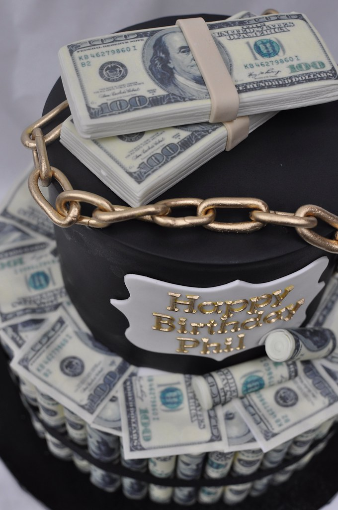 Money birthday cake Jenny Wenny Flickr