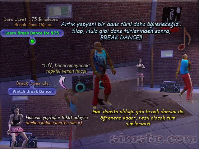 The Sims 2 Apartment Life Apartman Hayatı Learn Watch Break Dance Yeni Dans Türü