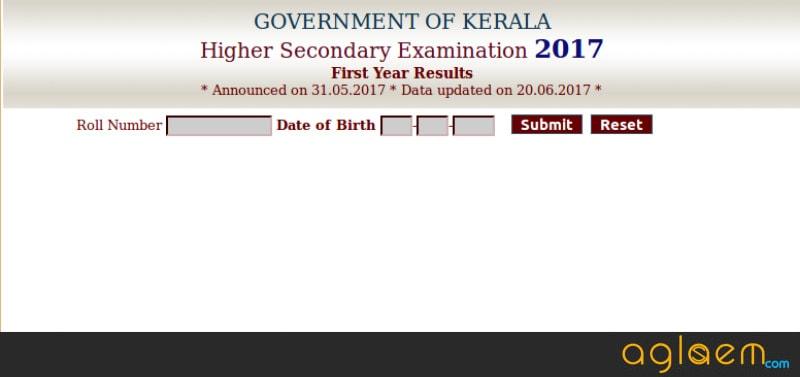 Kerala Plus One Reslt 2018