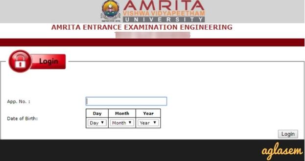 Amrita Admit Card 2019