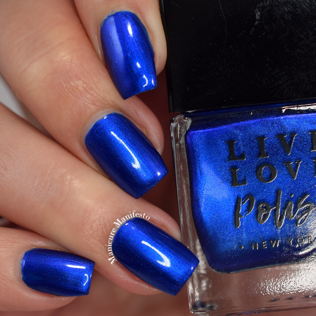 Live Love Polish Blue Suede swatch