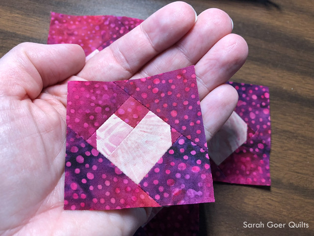 #islandbatikambassador #islandbatik tiny pieced heart block
