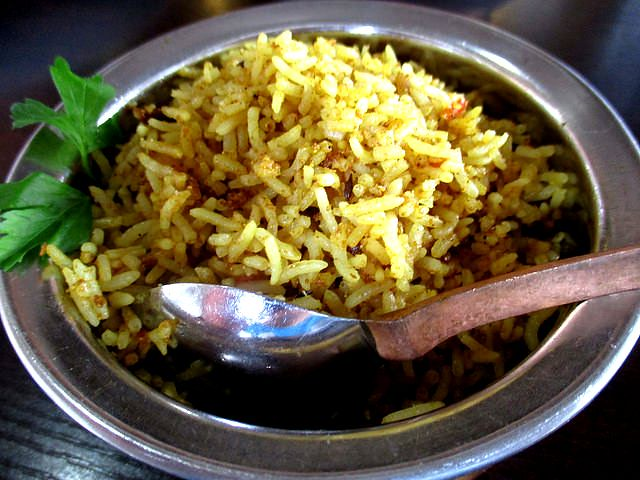 The Cafe Ind briyani rice