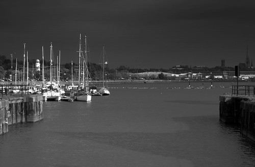 Dark clouds over Preston Marina | by Tony Worrall