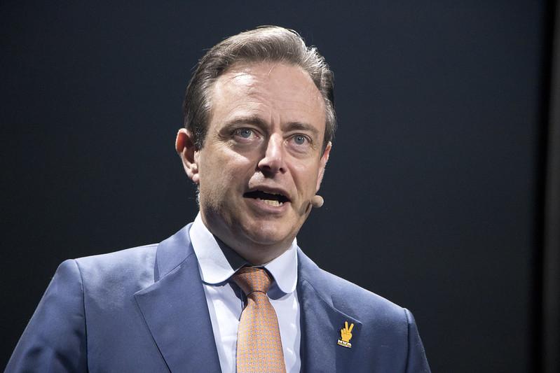 NV-A voorzitter Bart De Wever tijdens Nieuwjaarsreceptie