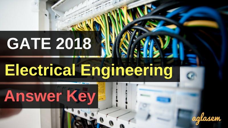 GATE 2018 EE Answer Key