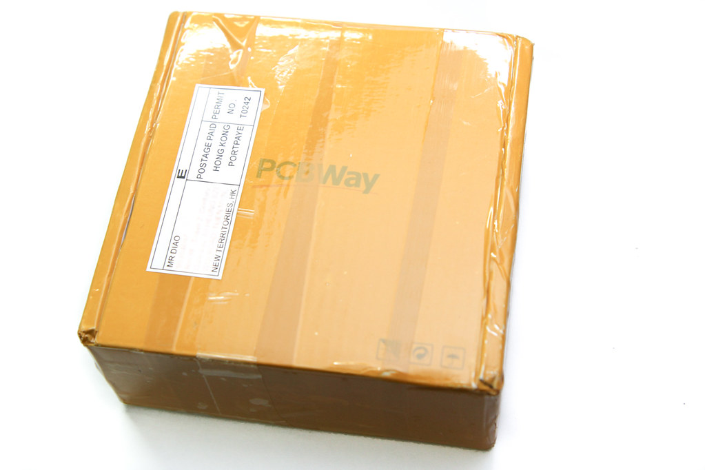 the box in which the PCBs arrived