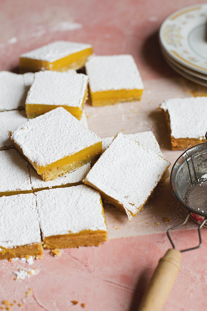 Pistachio Meyer Lemon Bars