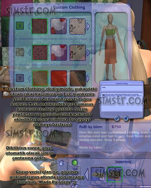 The Sims 2 FreeTime Hobbies Art and Crafts Sanat ve El Sanatları Hobisi Tailor Terzi