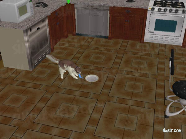 The Sims 2 Pets Human Food Vomiting Cat