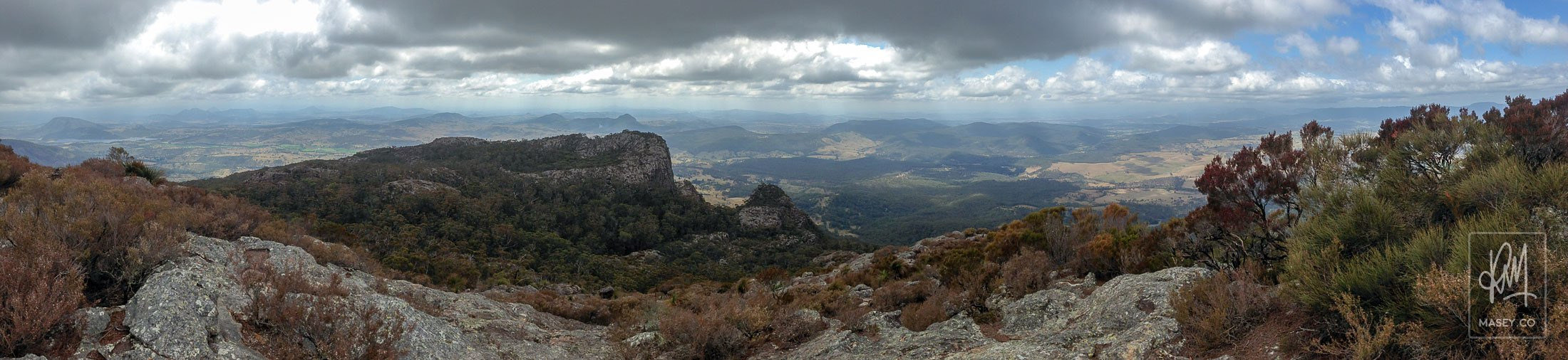 The panoramic views from the top of Mount Maroon are some of the best in South-East Queensland.