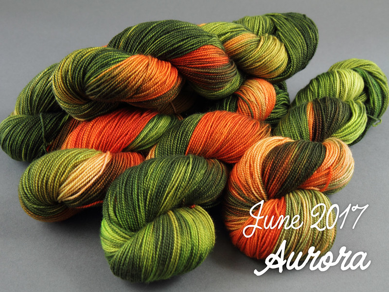 It's a Stitch Up Sock Club June 2017: Aurora