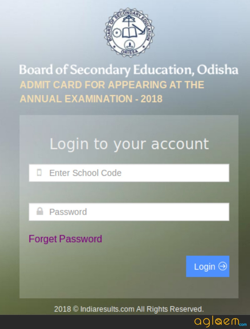 Odisha HSC Admit Card 2018 Available: Download Here Odisha 10 Admit Card