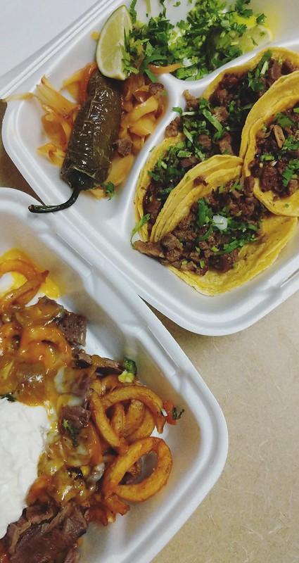 carne asada fries, street tacos