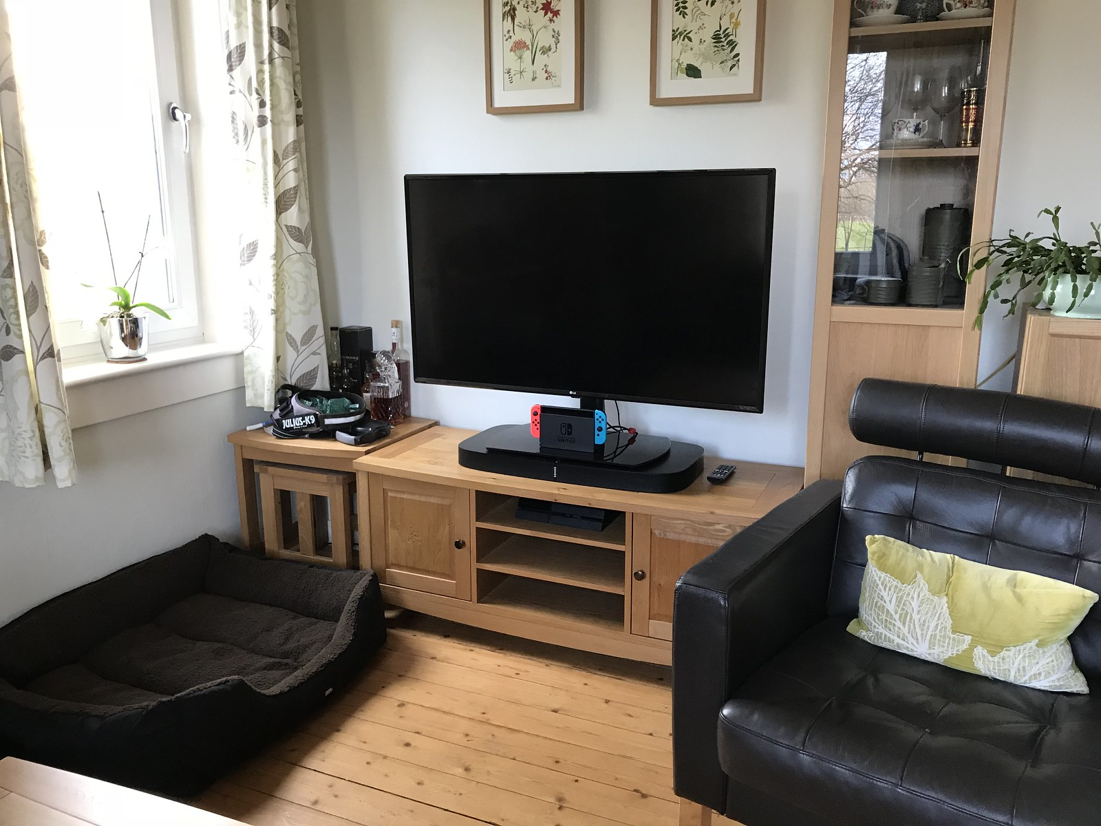 My Nintendo Switch setup in the living room