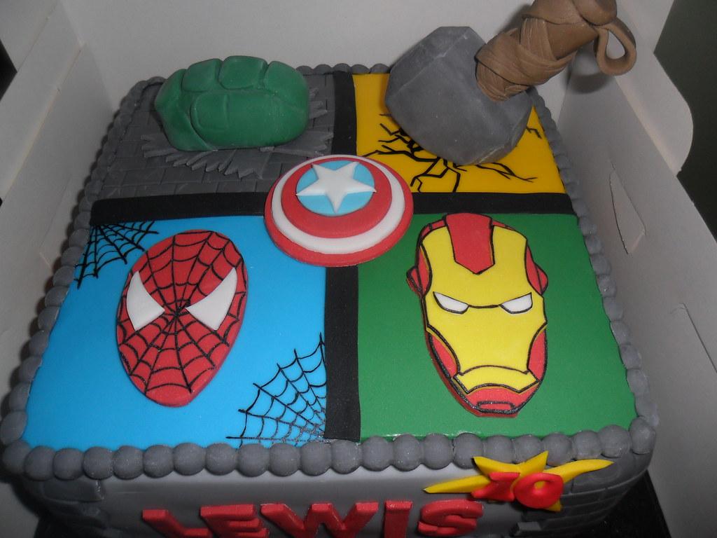 Thor Spiderman Iron Man Huld Marvel Birthday Cake Elizabeth Flickr