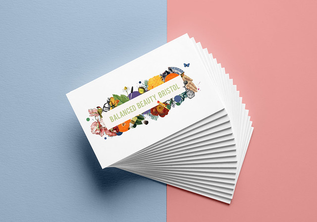 balanced beauty bristol business card mockup