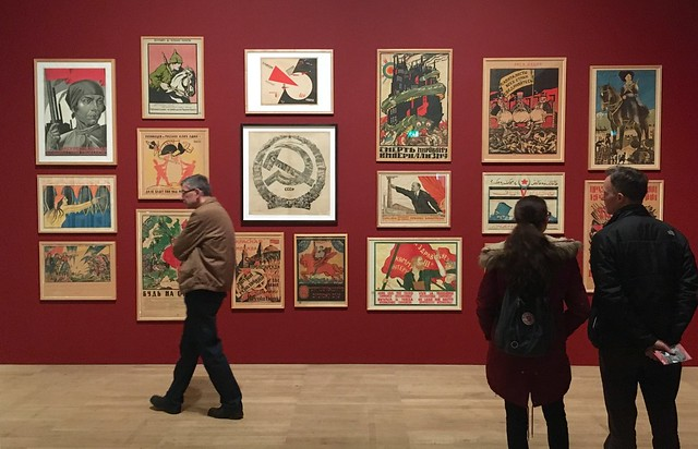 Photo of Soviet posters
