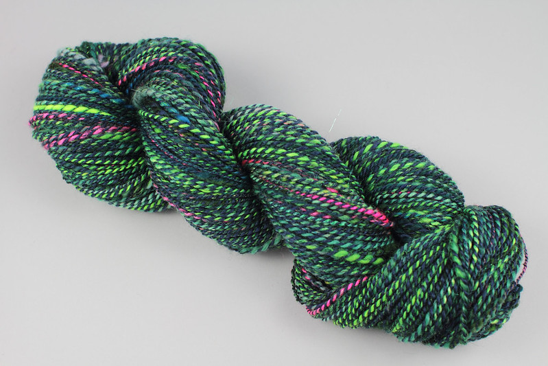 Northern Lights spinalong skein 2