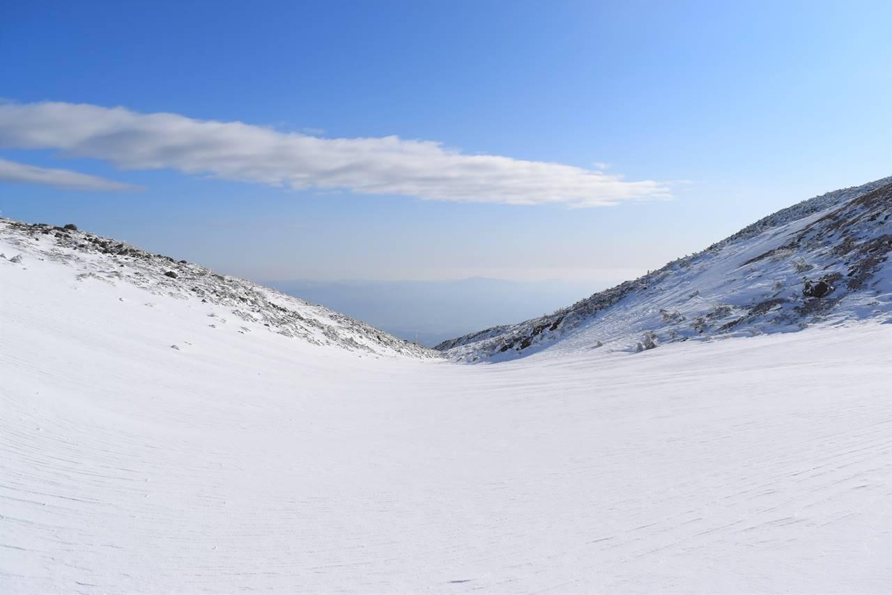 安達太良山 雪の斜面