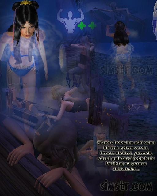 The Sims 2 FreeTime Hobbies Fitness Formdalık Hobisi