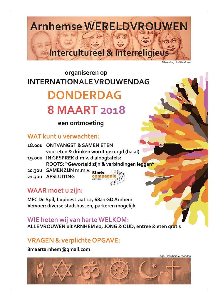 flyer Internationale Vrouwendag activiteiten
