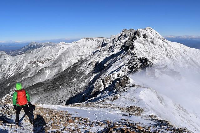 冬の八ヶ岳登山 横岳~硫黄岳~天狗岳~蓼科山の展望