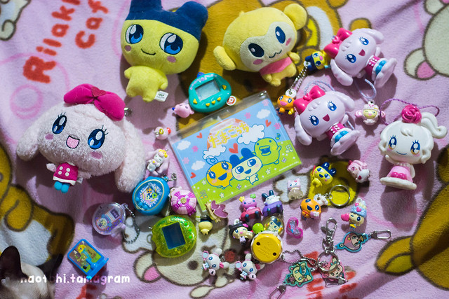 Tamagotchi Collection Part 3 - Merch, also includes PrettyCure Merch and the Dino Kun (first ever tamagotchi I encountered as a kid)