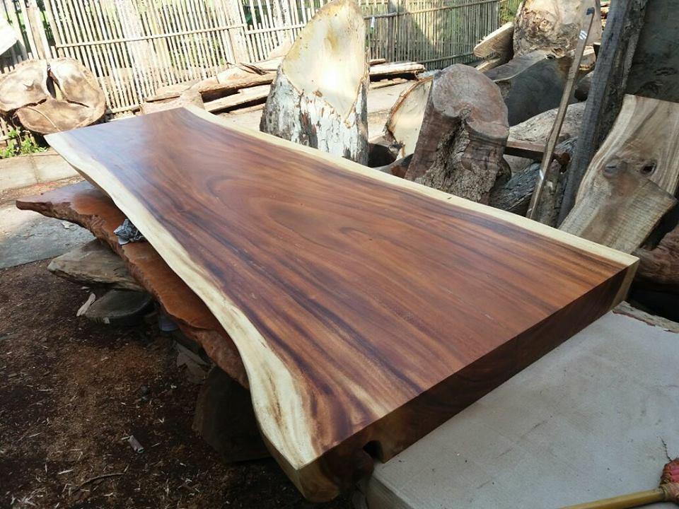 ... Natural Wood Slab Table   By IndoGemstone