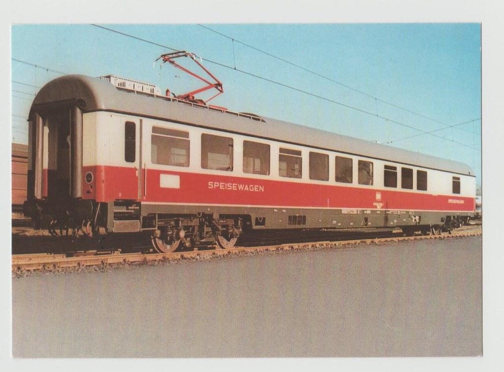 DB-Speisewagen WRmz135, Ansichtskarte 1973, Redactor Verlag