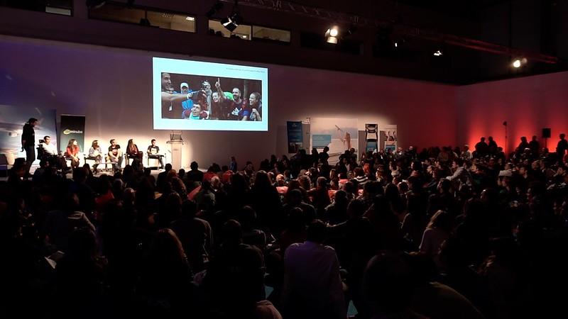 Proyección del trailer en Fitur en el evento de Minube
