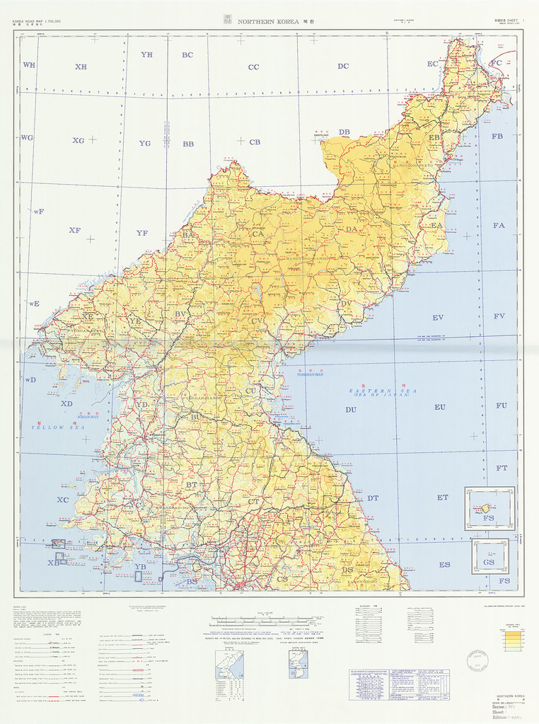 North Korea Map | National Geospatial-Intelligence Agency | Flickr