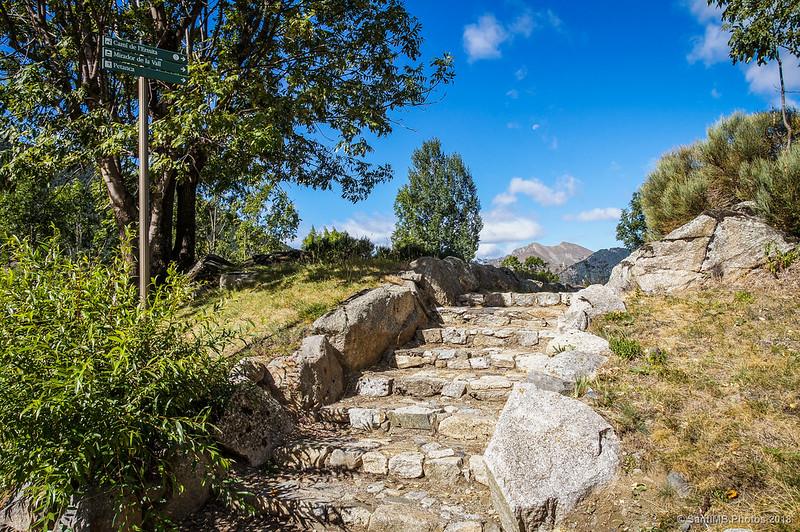 Inicio del camino a la ermita