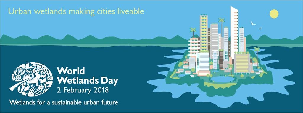 2018國際濕地日「永續都市的未來:濕地」。圖片來源:www.worldwetlandsday.org