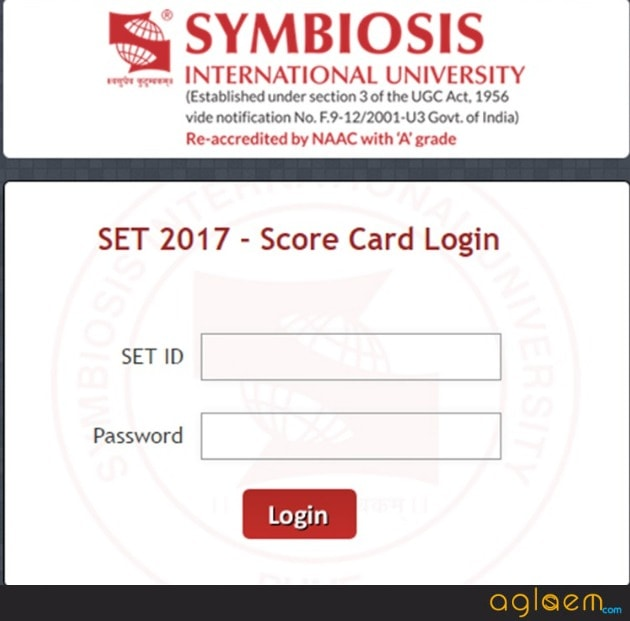 SET 2018 Result and Score Card - Get Here