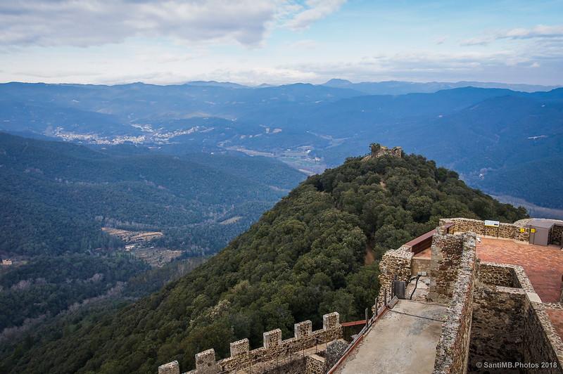 Vistas al norte desde la Torre del Homenaje del Castell de Montsoriu