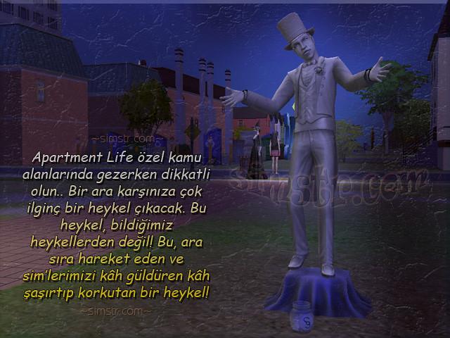 The Sims 2 Apartment Life Apartman Hayatı Living Statue Sculpture Hareket Eden Yaşayan Heykeller