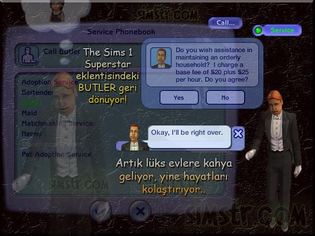 The Sims 2 Apartment Life Apartman Hayatı Telephone Call Butler Kahya Uşak