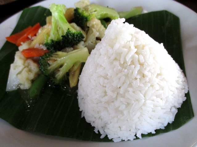 Cafe Ind kalio ayam side, mixed vegetables