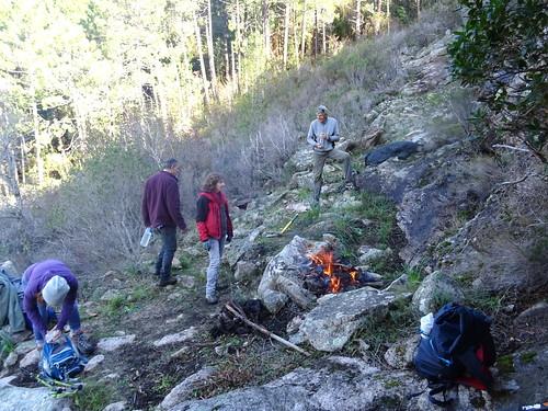 A la sapara de Cinaghja : extinction du feu suite à contrordre sur le lieu du spuntinu