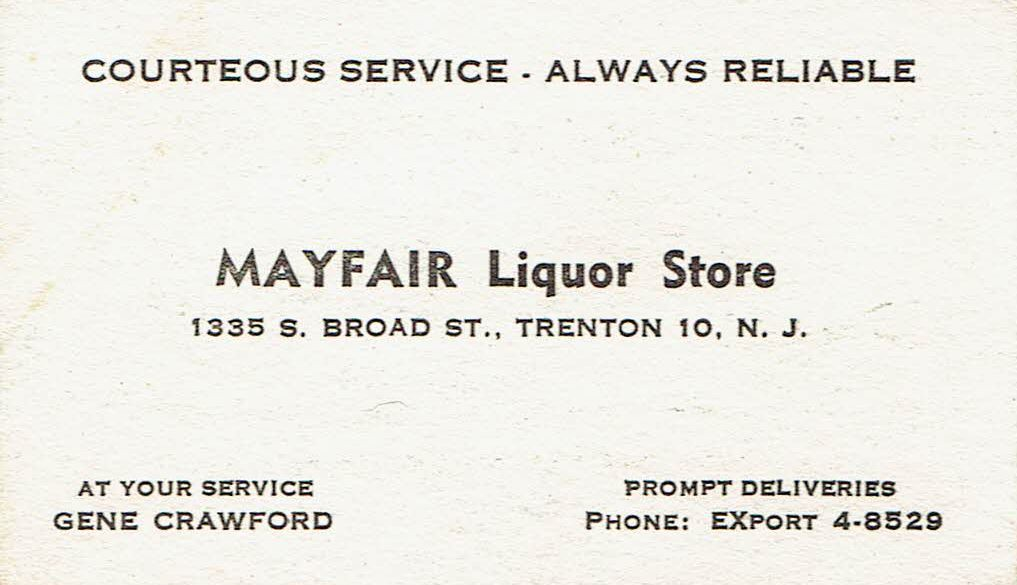 Business card mayfair liquor store trenton nj guy clinch flickr business card mayfair liquor store trenton nj by guy clinch reheart Image collections