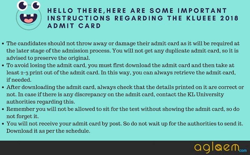 KLUEEE 2018 Admit Card Available   Download Here for Written and Online Test