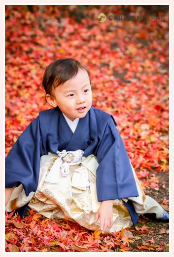 七五三はいつがいい? 11月15日を過ぎてからがオススメです! 3才の男の子 深川神社と窯垣の小径(愛知県瀬戸市)でロケーション撮影
